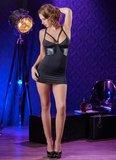 Cottelli Collection Mini Dress met Wetlook Inserts_