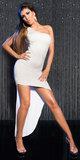 Sexy KouCla 2Way Dress High-Low in Wit