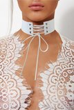 Celeb Choker met Veters in Wit
