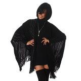 Sexy Jela London poncho in zwart_