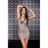Sexy mini jurkje met luipaard print_