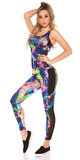Sexy Workout Outfit met Topje & Leggings in Blauw