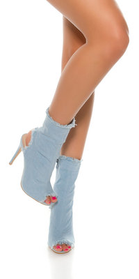 Sexy Jeans Peeptoe Ankle Boot