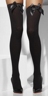 Hold-Up kousen Zwart met Zwarte strik