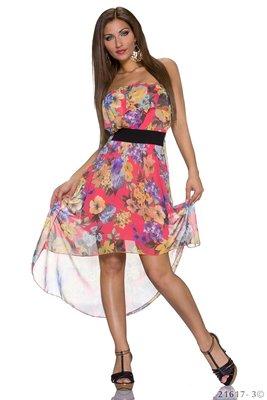 Sexy multi kleur bandeau jurk in zalm