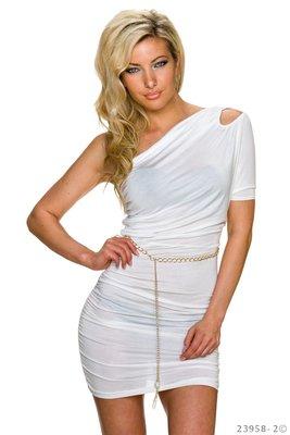 Sexy mini jurkje van Italy Moda in wit