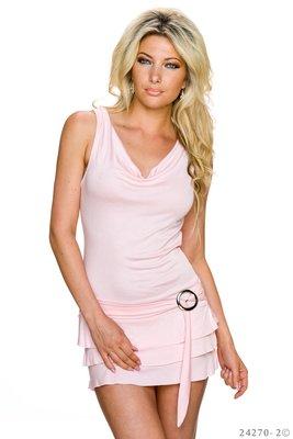 Sexy mini jurk van Fashion in roze