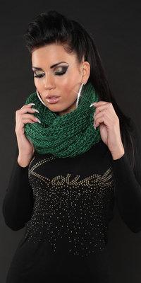 Trendy Loop Knit Sjaal in Groen