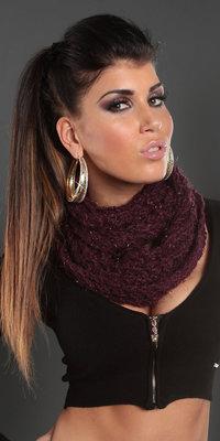Trendy Knit Loop Sjaal in Paars