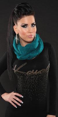 Trendy Loop Sjaal in Saffier
