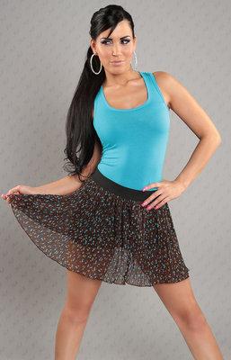 Sexy Miniskirt met Cherry Print in Bruin