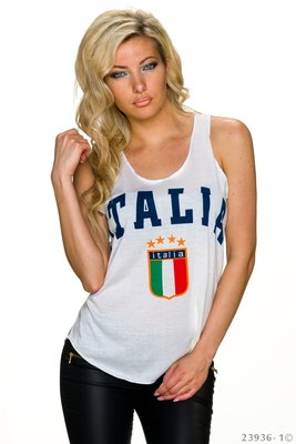 Sexy Italia Tank Top in Wit