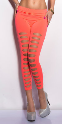 Sexy 7/8 leggings met Cut-Outs in Coral