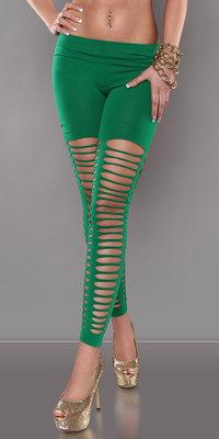 Sexy Legging met Sexy Kloven in Groen