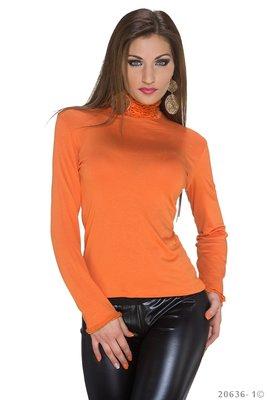 Sexy Long Sleeved Shirt in Oranje