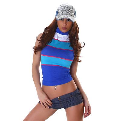 Sexy Gestreept top VM59 in Blauw