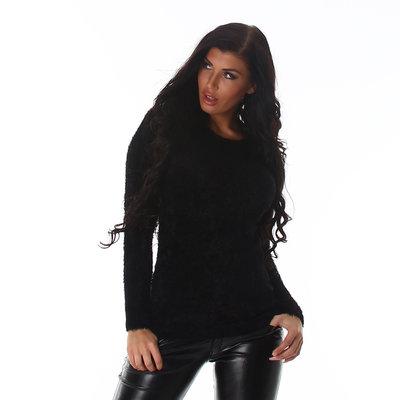 Sexy Pullover L-645 in Zwart
