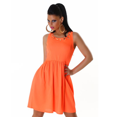 Sexy Jela London Party jurk in Oranje