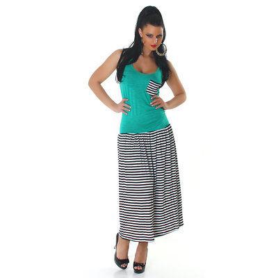 Sexy Jela London Maxi Jurk in groen