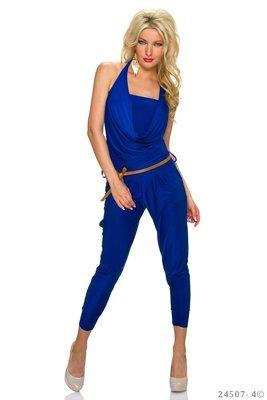 Sexy neckholder jumpsuit in blauw
