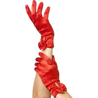 Handschoenen Met Strik - Rood