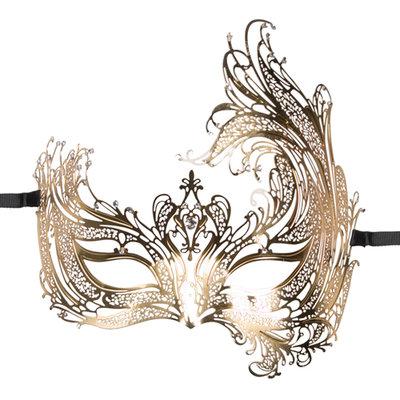 Easytoys Open Venetiaans Masker - Goudkleurig