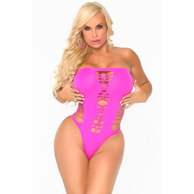 Maja Flava - naadloze bodysuit, roze