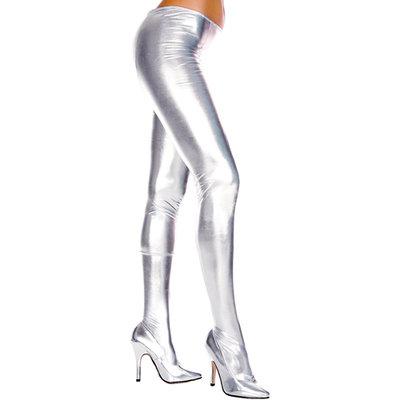 Wetlook Metallic Panty - Zilver