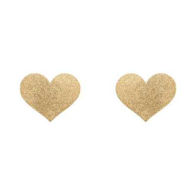 Flash Heart Tepelstickers - Goud