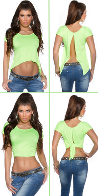 Sexy KouCla 2Way Crop Top in Groen