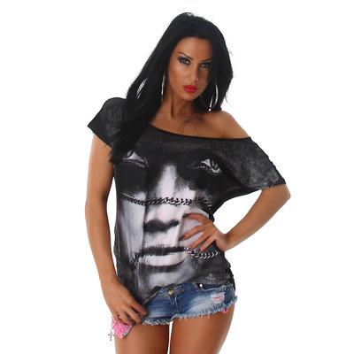 Sexy Jela London Shirt W-3568 in Zwart
