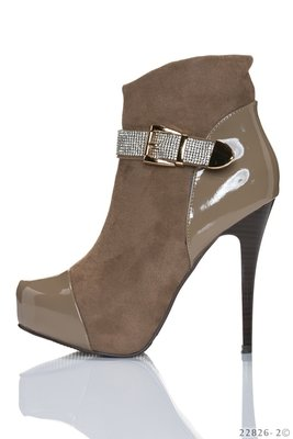Sexy Plateau Boots in Khaki