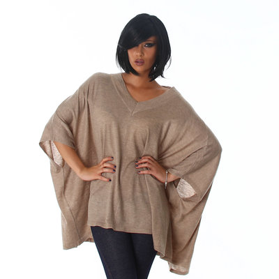 Jela London Cardigan C317 in Bruin