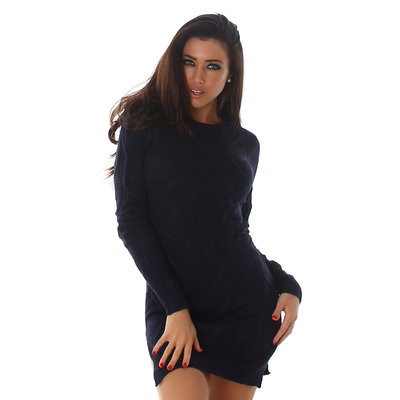 Sexy Jela London Long Sweater C467 in Navy