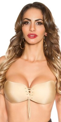 Sexy INVISIBLE BRA self adhesive in Beige