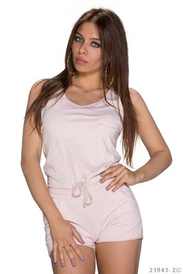 Sexy hotpants jumpsuit van New Collection in roze