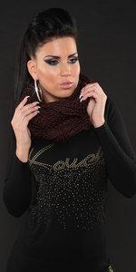 Trendy Loop Knit Sjaal in Bruin
