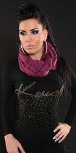 Trendy Loop Sjaal in Paars