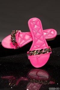 """Sexy Sandalen """"Chain"""" in Roze"""