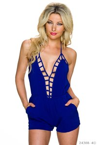 Sexy Hotpants Jumpsuit van Glam Style in Blauw