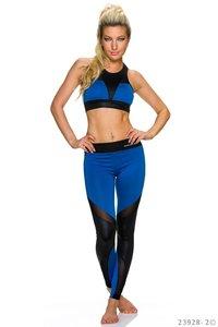 Sexy Top + Legging in Blauw/Zwart