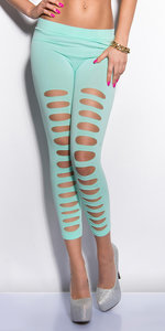 Sexy 7/8 leggings met Cut-Outs in Munt