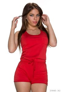 Sexy hotpants jumpsuit van New Collection in rood