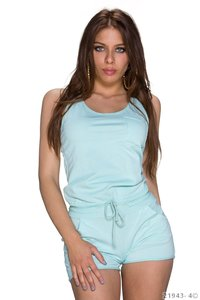 Sexy hotpants jumpsuit van New Collection in turquoise