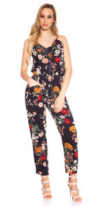 Sexy Lange Zomer Jumpsuit Coachella Style in Navy