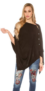 Trendy Scarf / Poncho It s Up 2 U in Zwart