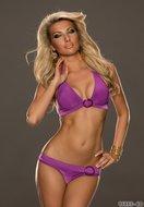 Sexy Bikini van No Go met gesp in paars